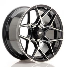 JANTE JR Wheels JRX9 18x9 ET18 6x139.7 Gloss Black Machined Face