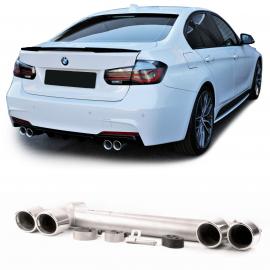 Conversion d'échappement sport duplex en acier inoxydable à 4 tuyaux avec support pour BMW Série 3 F30 F31 à partir de 11