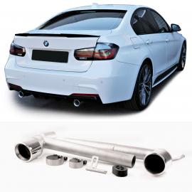 Conversion d'échappement sport en acier inoxydable duplex à 2 tuyaux avec support pour BMW Série 3 F30 F31 à partir de 11