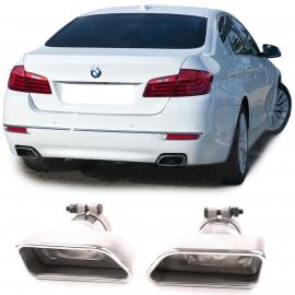 Sorties d'échappement en acier inoxydable 8 cylindres look pour BMW Série 5 F10 F11 Série 6 F12 F13