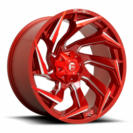 JANTE FUEL 4X4 REACTION  D754 Candy Red & Milled 15x8 / 20x9 / 20x10 / 22x10 / 22x12 / 24x12 5 / 6 / 8 T
