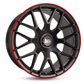 JANTE MAM GT.1 9,5x19 5/112 ET30 66,6 MATT BLACK LIP RED