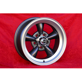 JANTE OLDTIMER TORQ THRUST AMERICAN STYLE 8X15 5X120,65 ET 0 ANTHRACITE POLIE