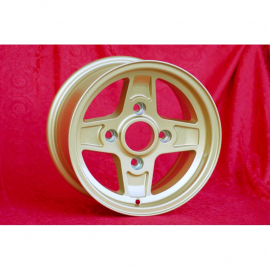 JANTE OLDTIMER MAXILITE Campagnolo style  7x13  4X130 ET 10 84  GOLD