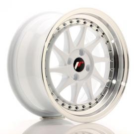 JANTE JR Wheels JR26 16x8 ET30 4x100 White w/Machined Lip