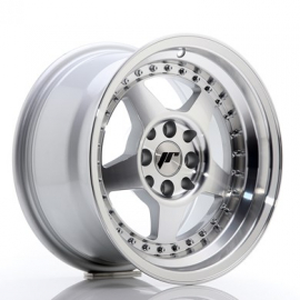 JANTE JR Wheels JR6 15x8 ET25 4x100/108 Silver Machined Face