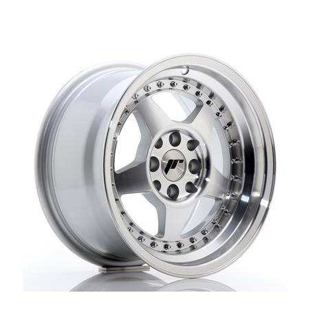 JANTE JR Wheels JR6 15x8 ET25 4x100/108 Silver Machined Face