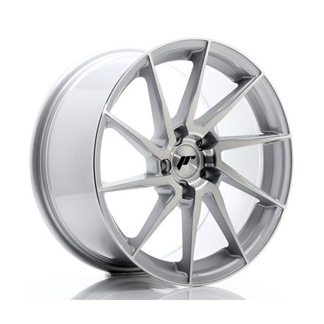 JANTE JR Wheels JR36 18x9 ET35 5x120 Silver Brushed Face