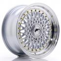 JANTE JR Wheels JR9 15x7 ET20 4x100/108 Silver w/Machined Lip