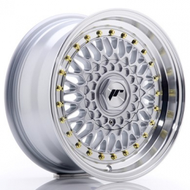 JANTE JR Wheels JR9 15x7 ET20 4x100/108 Silver w/Machined Lip