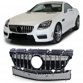 Calandre sport chrome noir brillant pour Mercedes SLK R172 pré-lift 11-15