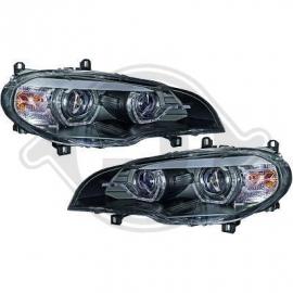 Kit de projecteurs principaux fond noir avec phares Xenon BMW X5 2008/2010