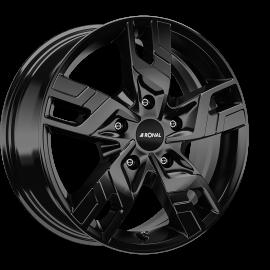 JANTE RONAL R64  JET BLACK 7X17 5X120 ET 55 VW TRANSPORTER T5 / T6