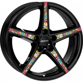 JANTE ALUTEC RAPTR GLOSS BLACK / STICKERBOMB 8X18 5X114,3 ET45 70,1
