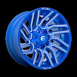 JANTE FUEL 4X4 TYPHOON  D774 Anodized Blue Milled 20x9 / 20x10 / 22x10 / 22x12 5 / 6 / 8 TROUS